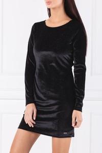 Czarna sukienka Pepe Jeans z długim rękawem
