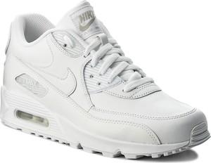Buty nike - air max 90 leather 302519 113 true white/true white