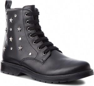 Czarne buty dziecięce zimowe Naturino ze skóry