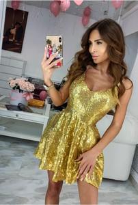 Żółta sukienka Ivet.pl mini w stylu casual