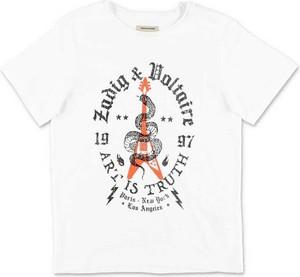 Koszulka dziecięca Zadig & Voltaire z bawełny z krótkim rękawem