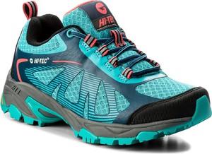 Buty trekkingowe Hi-Tec sznurowane w sportowym stylu z płaską podeszwą