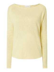 Bluzka American Vintage z okrągłym dekoltem z bawełny z długim rękawem