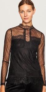 Czarna bluzka Reserved z długim rękawem z golfem