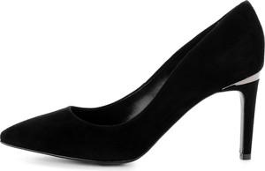 Czarne szpilki Prima Moda na szpilce ze spiczastym noskiem