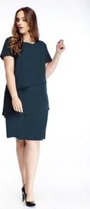 Sukienka Fokus wyszczuplająca z krótkim rękawem midi