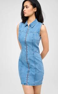 Niebieska sukienka ORSAY bez rękawów mini