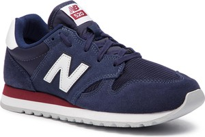 Buty sportowe New Balance sznurowane na koturnie z zamszu