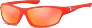 Stylion Okulary dziecięce sportowe Unisex czerwone matowe lustrzane CS90B