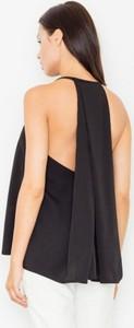 Czarna bluzka Figl z dekoltem w kształcie litery v