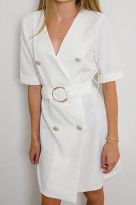 Sukienka Olika z krótkim rękawem mini szmizjerka