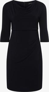 Granatowa sukienka Swing Curve w stylu casual mini
