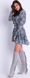 Sukienka SELFIEROOM midi z długim rękawem