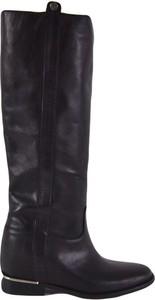 Czarne kozaki Gisel Moire w stylu casual