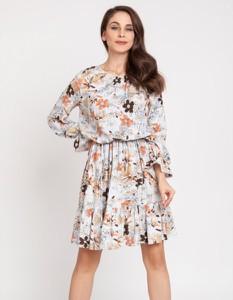 Sukienka Milena Płatek mini z długim rękawem