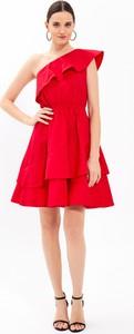Czerwona sukienka Gate z bawełny