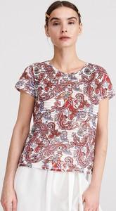 4b8752f3748c62 Bluzka Reserved z okrągłym dekoltem z krótkim rękawem
