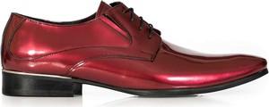 Czerwone buty Modini Moda Męska