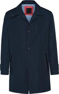 Granatowy płaszcz męski Lavard z tkaniny