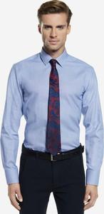 de0c8dcb3d9c69 koszule męskie eleganckie wólczanka. Niebieska koszula Wólczanka z długim  rękawem