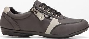 Buty sportowe bonprix bpc selection sznurowane w sportowym stylu z płaską podeszwą