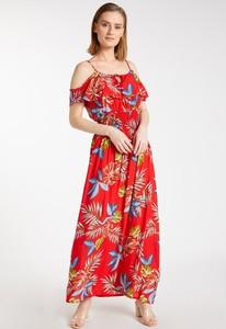 Czerwona sukienka Monnari z krótkim rękawem hiszpanka