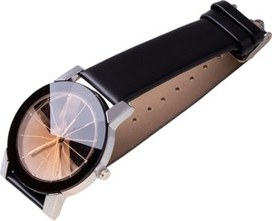 Magboss Zegarek męski, klasyczny, czarno-złoty