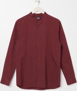 Fioletowa koszula Sinsay z długim rękawem w stylu casual z klasycznym kołnierzykiem