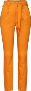 Pomarańczowe spodnie Vila z bawełny w stylu klasycznym
