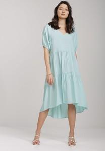 Miętowa sukienka Renee midi