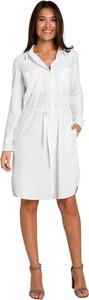Sukienka Style z dekoltem w kształcie litery v z długim rękawem mini