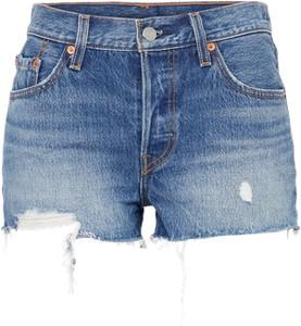 Niebieskie szorty levis z jeansu