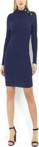 Granatowa sukienka WARESHOP z bawełny mini