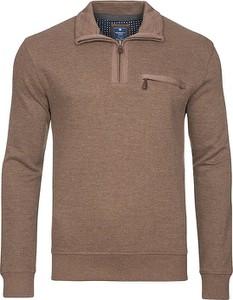 Brązowa bluza Redmond z bawełny w stylu casual