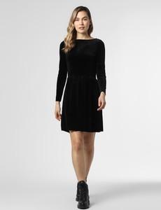 Czarna sukienka Vila z długim rękawem mini
