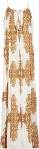 Sukienka Silvian Heach z okrągłym dekoltem maxi na ramiączkach