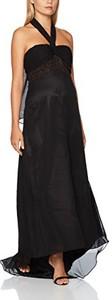 Czarna sukienka Astrapahl z dekoltem halter bez rękawów