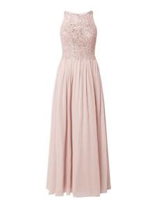 Różowa sukienka Laona z tiulu