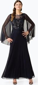 Sukienka Luxuar Fashion z długim rękawem maxi w stylu glamour