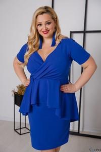 Niebieska sukienka tono.sklep.pl wyszczuplająca