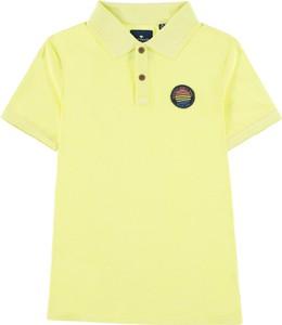 Żółta koszulka dziecięca Tom Tailor z bawełny dla chłopców
