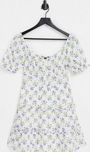 Sukienka Influence Tall mini z krótkim rękawem z bawełny
