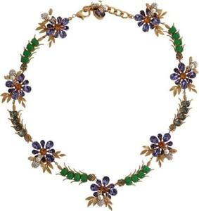 Dolce & Gabbana Złoto Mosiądz Kryształ Floral Insect Fly Naszyjnik