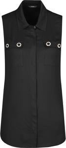 Czarna bluzka Guess Jeans bez rękawów