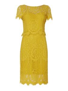 Żółta sukienka Vera Mont z bawełny