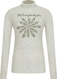 Sweter Desigual z nadrukiem