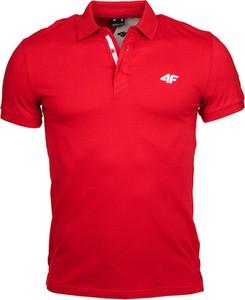 Czerwona koszulka polo 4F w stylu casual z bawełny