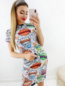 Sukienka Novvi.pl w stylu casual mini z krótkim rękawem