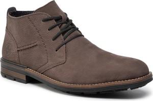 Brązowe buty zimowe Rieker sznurowane