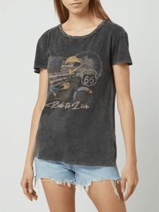 T-shirt Review w młodzieżowym stylu z okrągłym dekoltem z krótkim rękawem